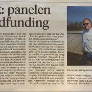 duurzame projecten krantenartikel